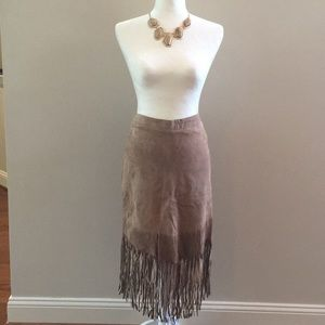 ABS Genuine Suede Skirt